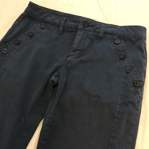 Anthropologie navy button pants